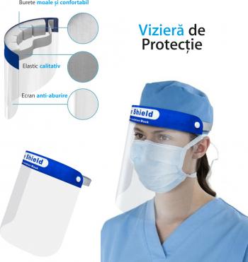 Viziera Face Shield - Ecran Protector 0.2mm anti-ceata anti-stropi Masti chirurgicale si reutilizabile