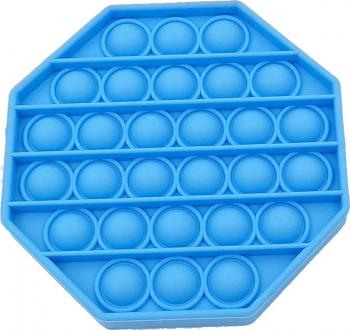Jucarie Pop It Now and Flip It Push Bubble Octogon Albastru Kendama si jucarii antistres