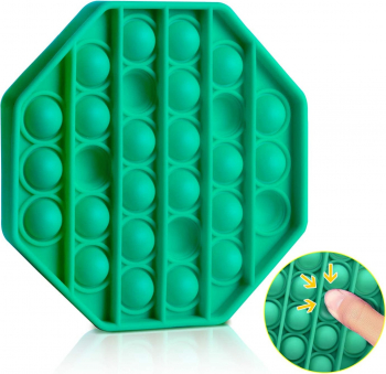 Jucarie Pop It Now and Flip It Push Bubble Octogon Verde Kendama si jucarii antistres