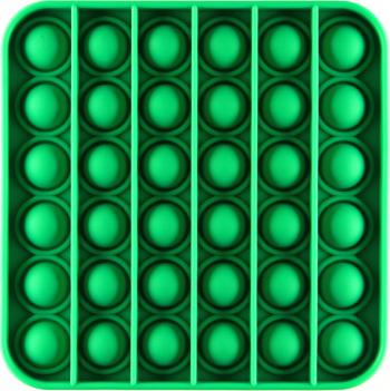 Jucarie Pop It Now and Flip It Push Bubble Patrat Verde Kendama si jucarii antistres