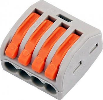 pret preturi Set 10 bucati Conectori pentru conductori electrici E-LOCKS tip WAGO 4 pini plastic