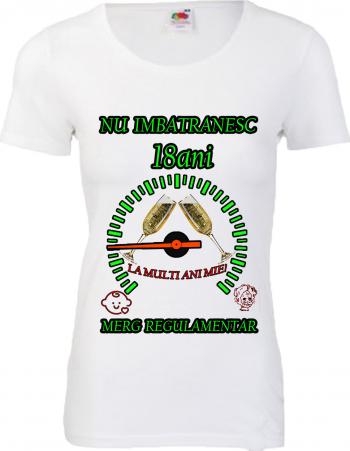 Tricou personalizat dama Fruit of the loom nu imbatranesc 18 alb M Tricouri dama