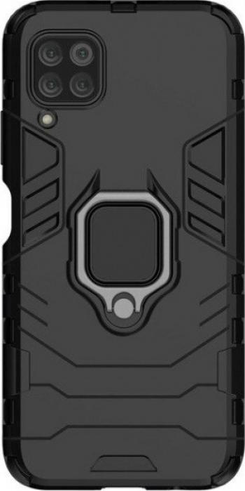 Husa Antisoc compatibila cu Samsung Galaxy A12 cu Magnet auto+Ring Negru