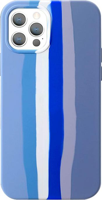 Husa Liquid Rainbow compatibila cu iPhone 11 Pro cu material moale antizgarieturi Albastru  Multicolor Huse Telefoane