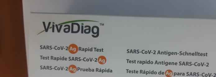 Test Rapid Covid VivaDiagTM SARS-CoV-2 Ag 5 Teste Antigen