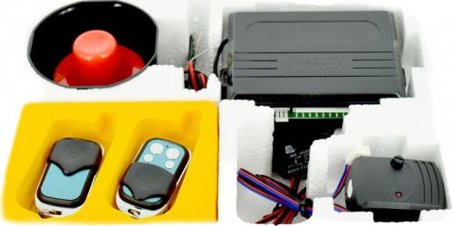 Alarma auto cu telecomanda si sirena functie pornire fara pager ART S02 - 063 Alarme auto si Senzori de parcare