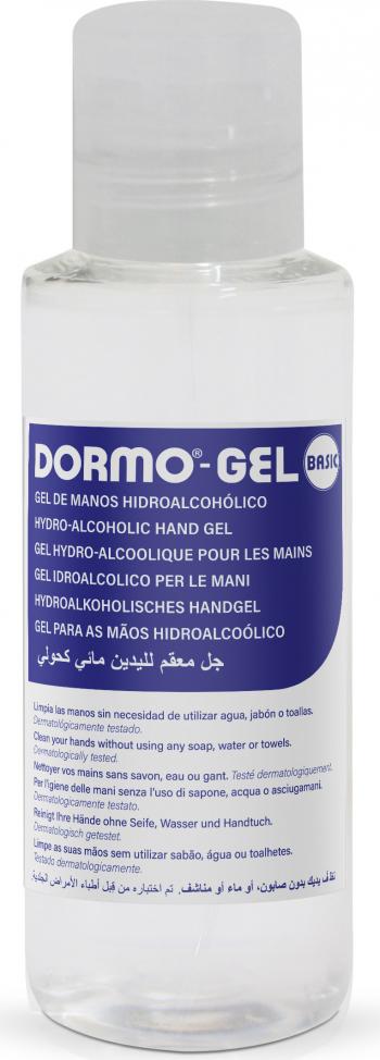Gel dezinfectant antibacterian pentru maini Dormo Gel Basic 100ml cu 70 alcool Gel antibacterian