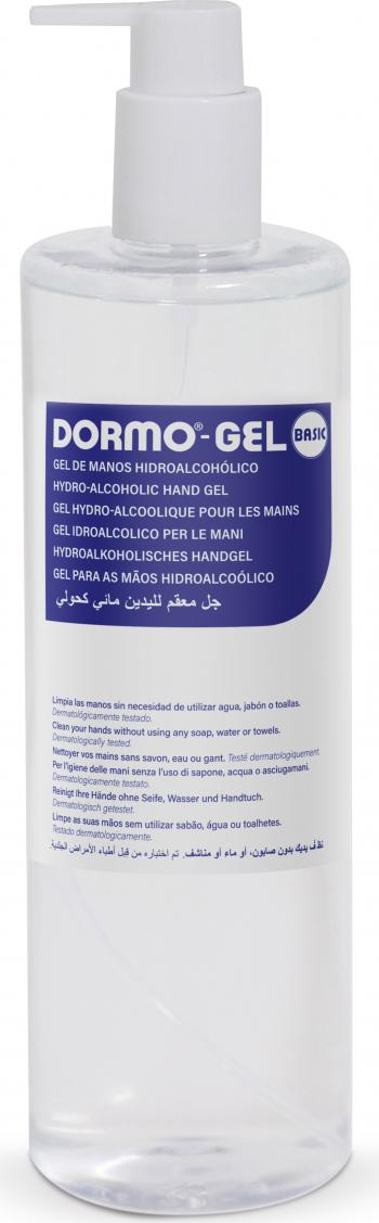 Gel dezinfectant antibacterian pentru maini Dormo Gel Basic 500ml cu 70 alcool Gel antibacterian