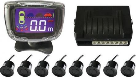pret preturi Senzori parcare fata spate cu 8 senzori si display LCD S500-8 negru