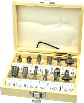 Set 12 freze pentru lemn 8mm GEKO G01200