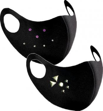 Set 2 bucati masca de protectie cu tinte si strasuri pentru femei Masti chirurgicale si reutilizabile