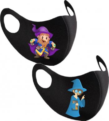 Set 2 bucati masca de protectie pentru copii imprimata Micul Vrajitor Masti chirurgicale si reutilizabile