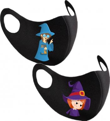 Set 2 bucati masca de protectie pentru copii imprimata Micuta Vrajitoare Masti chirurgicale si reutilizabile