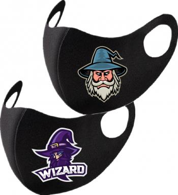 Set 2 bucati masca de protectie pentru copii imprimata Wizard Masti chirurgicale si reutilizabile