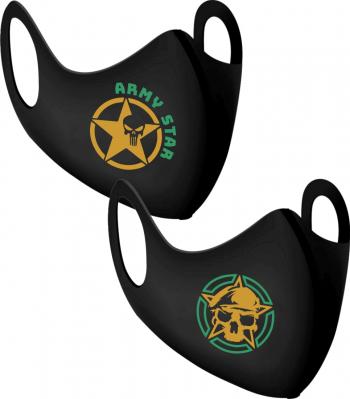 Set 2 bucati masca protectie barbati Army Star Masti chirurgicale si reutilizabile