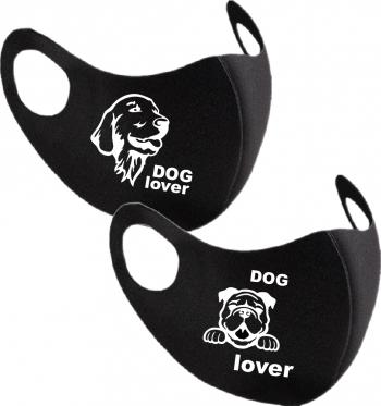 Set 2 bucati masca protectie barbati Dog Lover Masti chirurgicale si reutilizabile