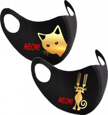 Set 2 bucati masca protectie femei Cat Woman Masti chirurgicale si reutilizabile