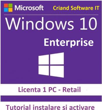 Windows 10 Enterprise-Licenta Permanenta + Tutorial Sisteme de operare