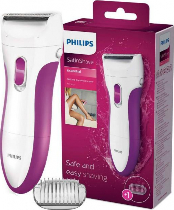 Aparat de ras pentru femei PHILIPS HP6341/02 SatinShave - utilizare in mediu umed/uscat alimentare baterii