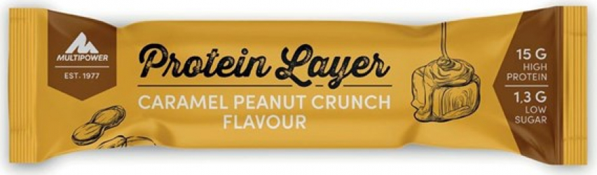 Baton Protein Layer 50g - Caramel and Peanut Suplimente fitness