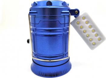 Felinar Reincarcabil MRG P-5888 Panou solar Panou 12 LED Albastru Corpuri de iluminat