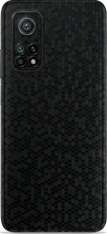Folie Skin Pentru Xiaomi Mi 10T 2 Buc - ApcGsm Wraps HoneyComb Black Folii Protectie