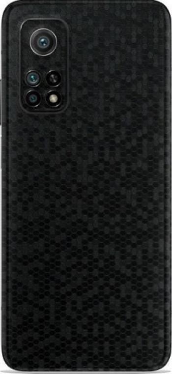 Folie Skin Pentru Xiaomi Mi 10T Pro 2 Buc - ApcGsm Wraps HoneyComb Black Folii Protectie