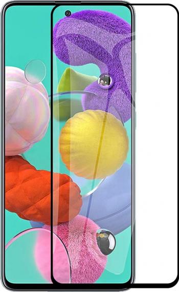 Folie sticla 6D compatibil cu Samsung Galaxy A21S - Margine Neagra Folii Protectie