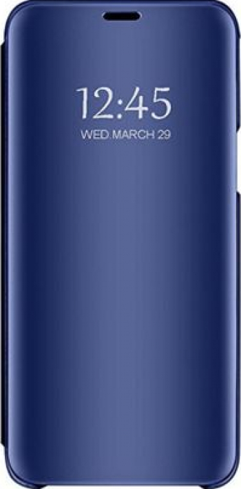 Husa Huawei P20 PRO Clear View Flip Mirror Stand Albastru Huse Telefoane