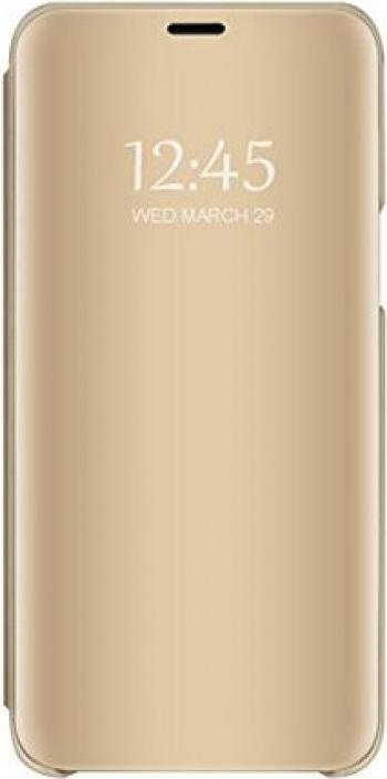 Husa pentru Huawei P30 Pro Clear View Flip Mirror Stand Auriu Huse Telefoane