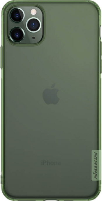 Husa Spate Ultra Slim Nillkin Nature iPhone 11 Pro Transparenta Verde Huse Telefoane