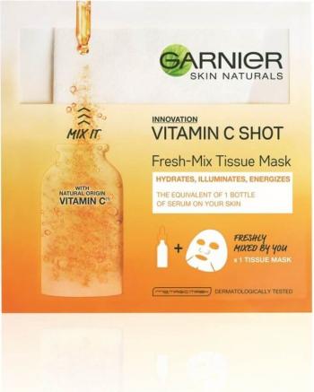 Masca Servetel Garnier Skin Naturals Fresh-Mix Vitamin C Shot 33 g Masti, exfoliant, tonice