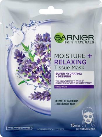 Masca Servetel Garnier Skin Naturals Moisture and Relaxing cu Lavanda 28 g - ROCTY28215 Masti, exfoliant, tonice
