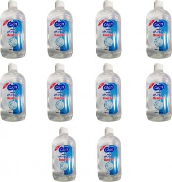 Pachet 10 bucati gel igenizant de maini GIAN antibacterian si dezinfectant 500 ml Gel antibacterian