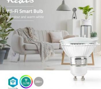 Bec LED Smart WiFi RGB - lumina alba calda GU10 Nedis Corpuri de iluminat