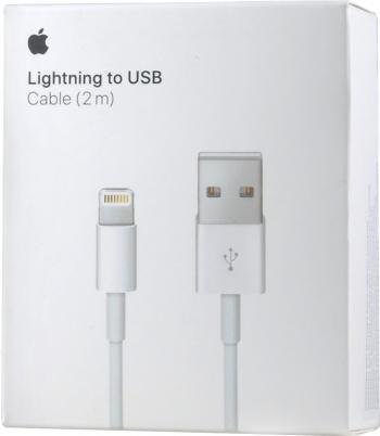 Cablu DateIncarcare 2 Metri compatibil iPhone 11 Pro Max  11 Pro  SE 2020  XR  XS Max  8  7  6S  Plus  5S Blister MD819ZMA + Cabluri telefoane mobile