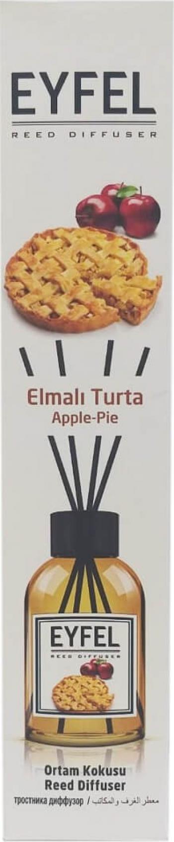 Odorizant de camera Eyfel - Betisoarele de ratan Reed Diffuser Apple Pie 110 ml Cadou Perfect Inclus Odorizante