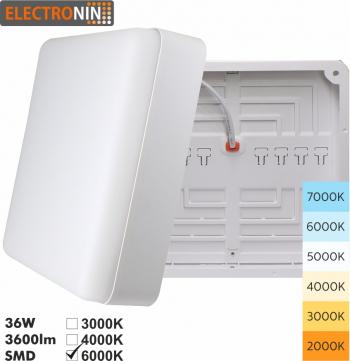 Plafoniera 36W Tip P 3600lm 6000K AC220-240V 50/60 Hz 180 and deg ABS White A+ Corpuri de iluminat