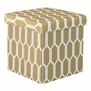Taburet material textil maro/alb HAJAR Scaune