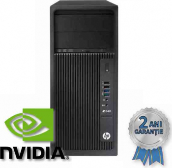 WorkStation Refurbished HP Z240 Core i7-6700 4000MHz 16GB RAM DDR4 SSD 256GB + HDD 2 TB GeForce GTX 1050Ti 4GB Windows 10 PRO Calculatoare Refurbished