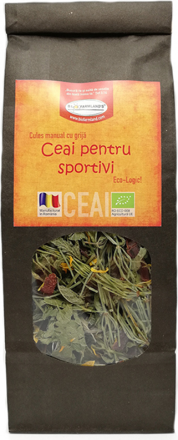 Ceai pentru Sportivi 50g Bio/ECO Biofarmland Produse gourmet