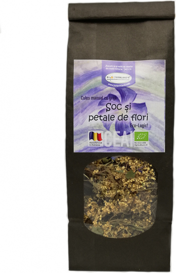 Ceai Soc si petale de flori 40g Bio/ECO Biofarmland Produse gourmet