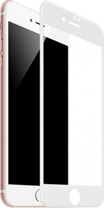Folie Sticla Securizata Premium Full Cover Hoco Compatibila Cu iPhone 7 / 8 Transparenta Cu Margine Alba