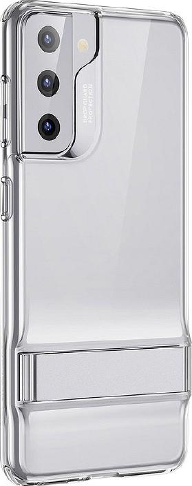 Husa Premium Esr Air Shield Boost Compatibila Cu Samsung S21+ Plus Silicon Stand Metalic Transparenta
