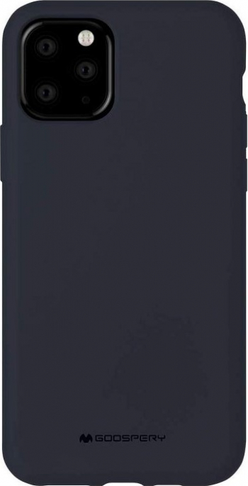 Husa Spate Mercury Silicone iPhone 11 Pro cu Interior Alcantara navy Albastru Huse Telefoane