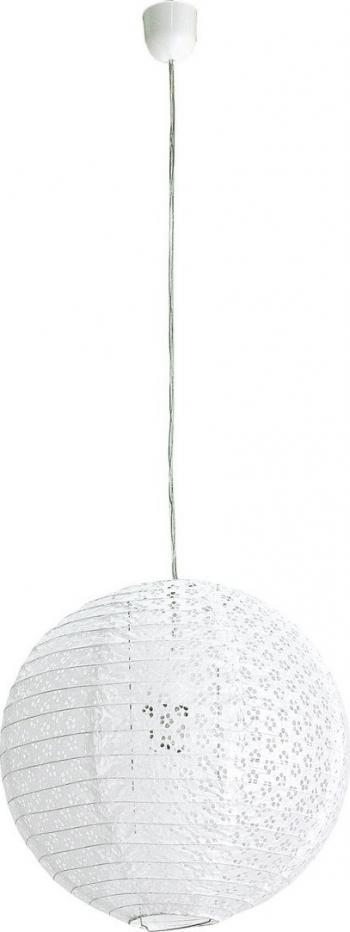 Lustra cu abajur din hartie alba and Oslash 60 cm x 120 h Corpuri de iluminat