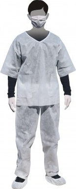 Pijama alba TNT 60gr Articole protectia muncii