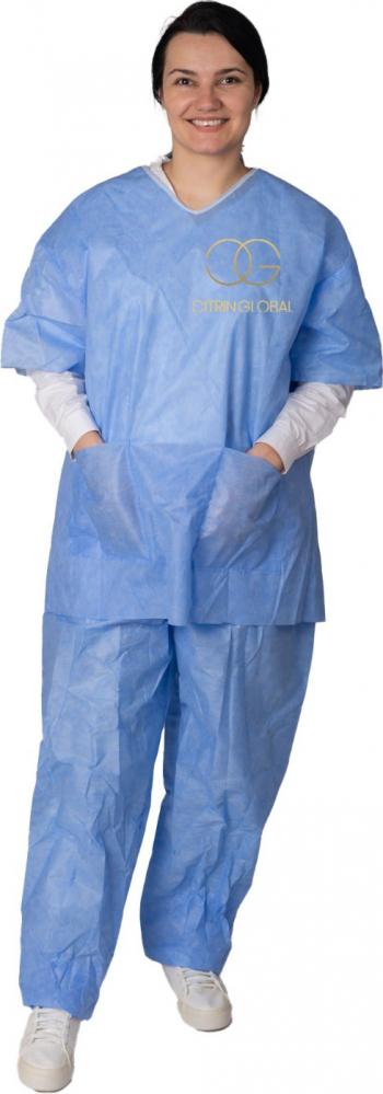 Pijama albastra SMS 40gr Articole protectia muncii