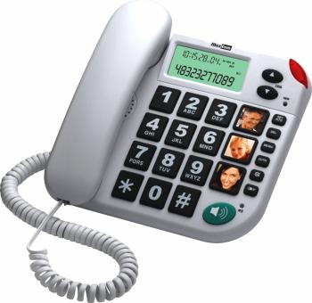 Telefon fix cu fir MaxCom KXT480 Alb