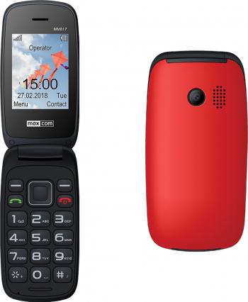 Telefon mobil Dual SIM MaxCom Comfort MM817 2G Red Telefoane Mobile